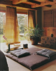 cottage meditation room